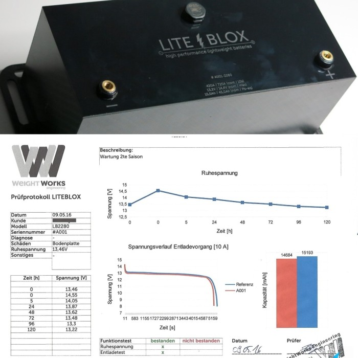 battery test protocol lithium LiFePO4