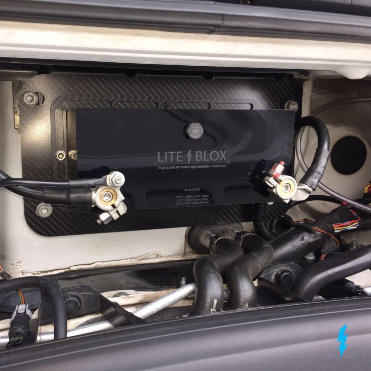Porsche Halter Batterie LITEBLOX